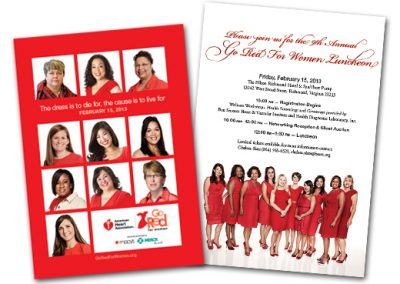 Go Red for Women 2013 Invite