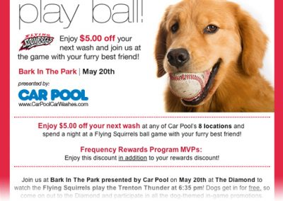 Car Pool Play Ball! Campaign