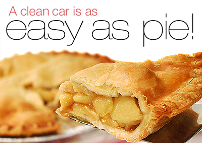 A clean car is as easy as pie!