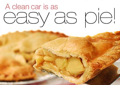 A clean car is as easy as pie!