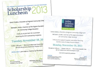 VFCCE Scholarship Luncheon & Valley Proteins Fellows Invites